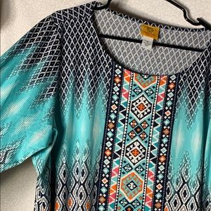 Southwestern Style Long Sleeve Top